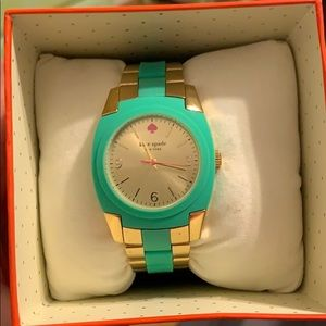 Teal and gold Kate Spade Watch